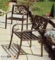 Garden Arm Chairs (Pair) with Cast Insert - 4366